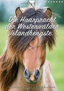 Ingo Gerlach: Die Haarpracht der Islandhengste. (Wandkalender 2022 DIN A4 hoch), Kalender