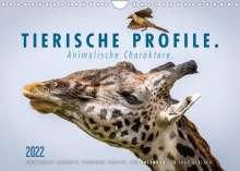 Ingo Gerlach: Tierische Profile (Wandkalender 2022 DIN A4 quer), Kalender