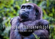 Ingo Gerlach: Tierische Charakterköpfe (Wandkalender 2022 DIN A3 quer), Kalender