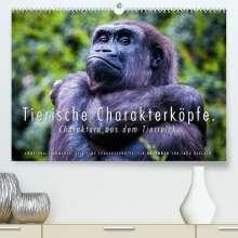 Ingo Gerlach: Tierische Charakterköpfe (Premium, hochwertiger DIN A2 Wandkalender 2022, Kunstdruck in Hochglanz), Kalender