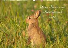 Kevin Andreas Lederle: Unsere Hasen - und Kaninchenwelt (Wandkalender 2022 DIN A2 quer), Kalender