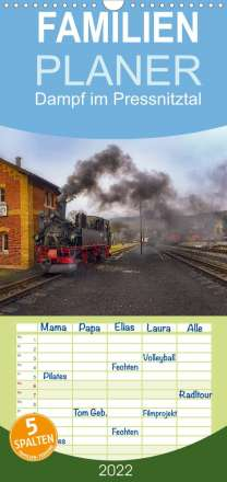 Matthias Bellmann: Dampf im Pressnitztal (Wandkalender 2022 , 21 cm x 45 cm, hoch), Kalender