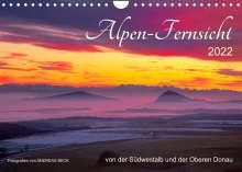 Andreas Beck: Alpen-Fernsichten von der Südwestalb und Oberen Donau (Wandkalender 2022 DIN A4 quer), Kalender