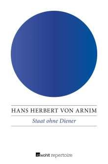 Hans Herbert von Arnim: Staat ohne Diener, Buch