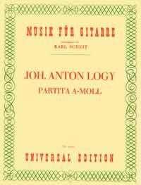 Johann Anton Logy: Partita A-Moll, Noten