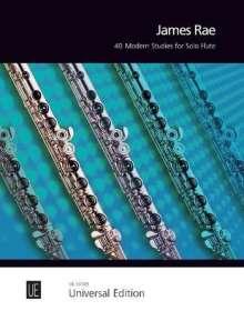 James Rae: 40 Modern Studies für Flöte, Noten