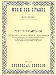 Matteo Carcassi: Ausgewählte Etüden für die Mittelstufe, Noten
