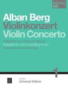 Alban Berg: Violinkonzert, Noten