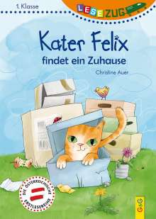Christine Auer: LESEZUG/1. Klasse: Kater Felix findet ein Zuhause, Buch