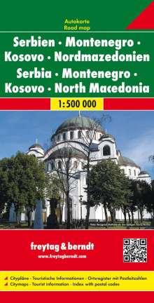 Serbien / Montenegro / Mazedonien 1 : 500 000. Autokarte, Diverse