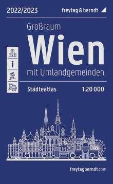 Wien Großraum, Städteatlas 1:20.000, 2022/2023, freytag & berndt, Buch