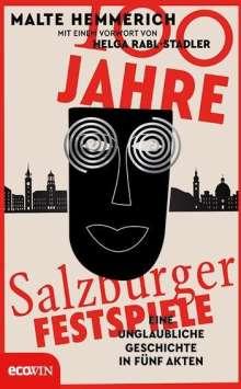 Malte Hemmerich: 100 Jahre Salzburger Festspiele, Buch