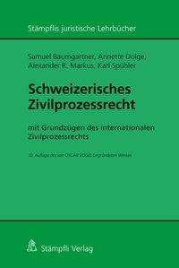 Samuel Baumgartner: Schweizerisches Zivilprozessrecht, Buch