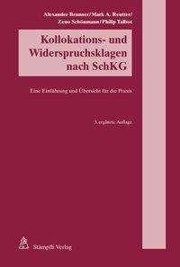 Alexander Brunner: Kollokations- und Widerspruchsklagen nach SchKG, Buch