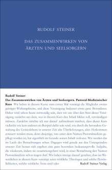 Rudolf Steiner: Das Zusammenwirken von Ärzten und Seelsorgern, Buch