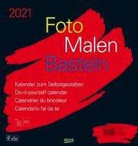 Foto-Malen-Basteln Bastelkalender schwarz groß 2021, Kalender