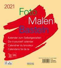 Foto-Malen-Basteln Bastelkalender beige 2021, Kalender