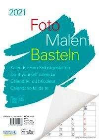 Foto-Malen-Basteln A4 weiß Notice 2021, Kalender