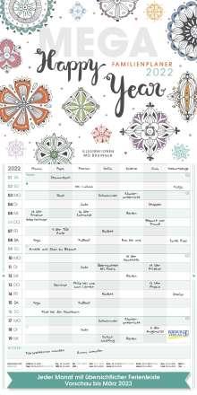Mega Familienplaner Happy Year 2022, Kalender