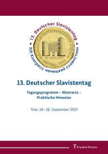 13. Deutscher Slavistentag, Buch