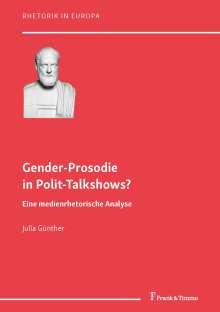 Julia Laura Günther: Gender-Prosodie in Polit-Talkshows?, Buch