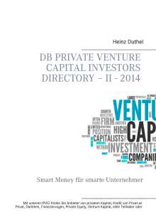 Heinz Duthel: DB Private Venture Capital Investors Directory - II - 2014, Buch