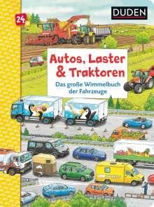 Christina Braun: Duden 24+: Autos, Laster & Traktoren: Das große Wimmelbuch der Fahrzeuge, Buch
