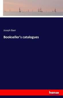 Joseph Baer: Bookseller's catalogues, Buch
