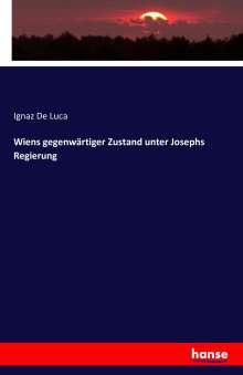 Ignaz De Luca: Wiens gegenwärtiger Zustand unter Josephs Regierung, Buch