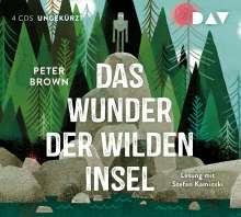 Peter Brown: Das Wunder der wilden Insel, 4 CDs