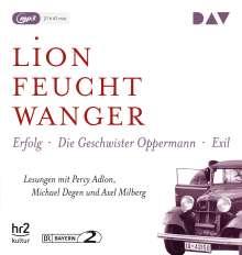 Lion Feuchtwanger: Die »Wartesaal«-Trilogie. Erfolg - Die Geschwister Oppermann - Exil, 3 CDs