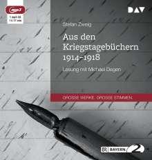 Stefan Zweig: Aus den Kriegstagebüchern 1914-1918, CD