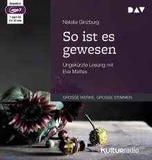 Natalia Ginzburg: So ist es gewesen, CD
