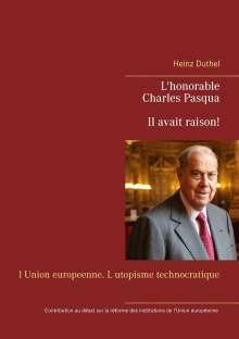 Heinz Duthel: Charles Pasqua - Il avait raison!, Buch