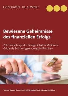 Heinz Duthel: Bewiesene Geheimnisse des finanziellen Erfolgs, Buch