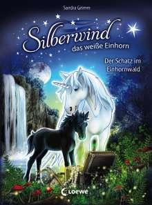 Sandra Grimm: Silberwind, das weiße Einhorn - Der Schatz im Einhornwald, Buch