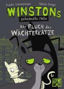 Frauke Scheunemann: Winstons geheimste Fälle - Der Fluch der Wächterkatze, Buch