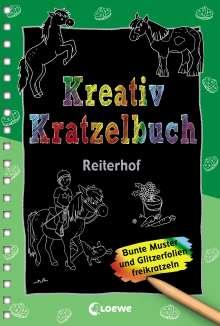 Kreativ-Kratzelbuch: Reiterhof, Buch