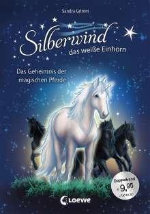 Sandra Grimm: Silberwind, das weiße Einhorn - Das Geheimnis der magischen Pferde, Buch