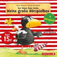 Nele Moost: Der kleine Rabe Socke - Meine große Hörspielbox (9 Hörspiele), 3 CDs