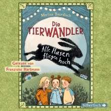 Martina Baumbach: Die Tierwandler 2: Alle Hasen fliegen hoch, 2 CDs