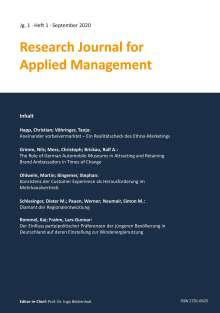 Stephan Bingemer: Research Journal for Applied Management - Jg. 1, Heft 1, Buch