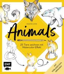 Susanne Loose: Animals - 25 Tiere zeichnen mit Watercolor-Effekt, Buch
