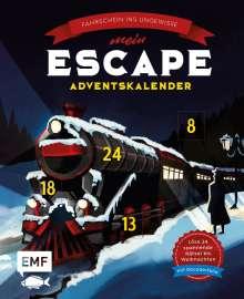 Mein Escape-Adventskalender: Fahrschein ins Ungewisse - Mit Decoderfolie, Buch