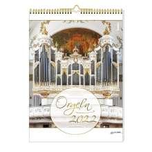 Orgeln 2022 Kalender mit CD, Kalender