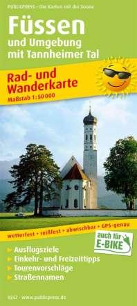 Füssen und Umgebung mit Tannheimer Tal 1:50 000, Diverse