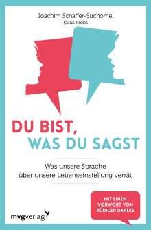 Joachim Schaffer-Suchomel: Du bist, was du sagst, Buch