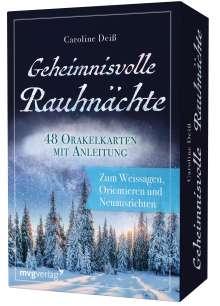 Caroline Deiß: Geheimnisvolle Rauhnächte - 48 Orakelkarten mit Anleitung, Diverse