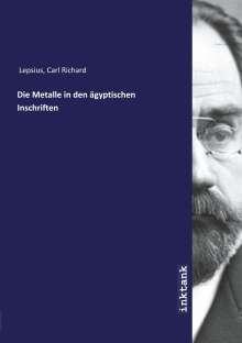Carl Richard Lepsius: Die Metalle in den ägyptischen Inschriften, Buch