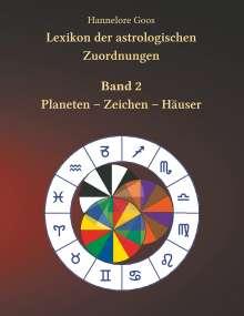 Hannelore Goos: Lexikon der astrologischen Zuordnungen Band 2, Buch